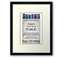 Doctor Who - Tardis evol Framed Print