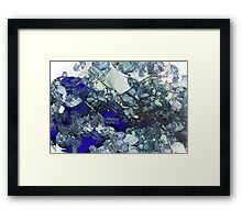 Glass Mess - Abstract render Framed Print