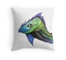 water color dragon (Specially Detailed) Throw Pillow