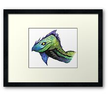 water color dragon (Specially Detailed) Framed Print