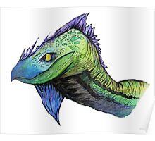 water color dragon (Specially Detailed) Poster