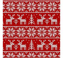 Red and white christmas pattern Photographic Print