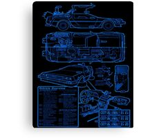 BTTF DELOREAN Canvas Print