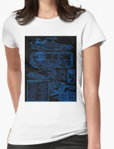 BTTF DELOREAN Womens Fitted T-Shirt