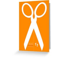 Running with scissors Greeting Card