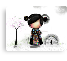 patchwork kimono Canvas Print