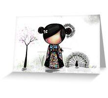 patchwork kimono Greeting Card
