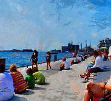 People on Harbourfront Toronto by DiNovici