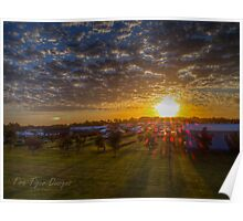 Sunset over the Bellarine Big4 Poster