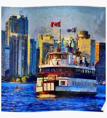 Boat on Ontario Lake Poster