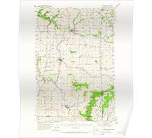 USGS Topo Map Washington State WA Fairfield 241103 1954 62500 Poster