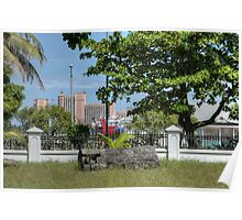 Atlantis view from Eastern Cemetery in Nassau, The Bahamas Poster