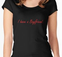 I have a boyfriend -Red Women's Fitted Scoop T-Shirt