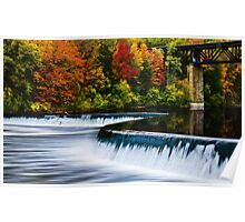 Fall Colours At Penman's Dam Poster
