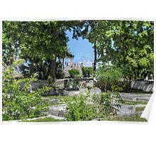 Paradise Island Bridge view from Eastern Cemetery in Nassau, The Bahamas Poster