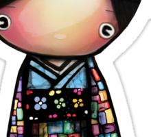 patchwork kimono Sticker