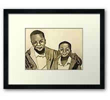 'Because Brothers Stick Together' Framed Print