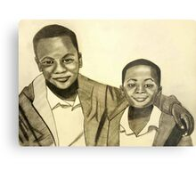 'Because Brothers Stick Together' Metal Print