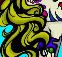 Sugarskull Horned Zombiegirl Sticker