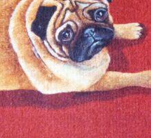 Pug on a Rug Sticker