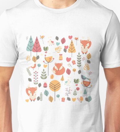 Baby fox pattern 04 Unisex T-Shirt