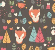 Baby fox pattern 04 Sticker