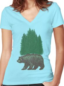 Nature Walk Women's Fitted V-Neck T-Shirt