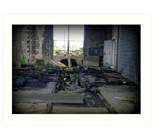 The Unseemly Death of A Rail House Art Print