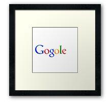 gogole google Framed Print