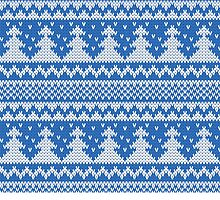 Blue and white christmas tree pattern by Winkham