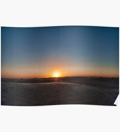 Sunset in Sahara Poster