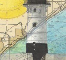 Duluth Hbr N Lighthouse MN Nautical Chart Cathy Peek Sticker