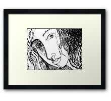 Portrait of an Imaginary Woman Framed Print