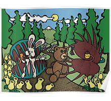 Teddy Bear And Bunny - The Venus Flytrap Poster