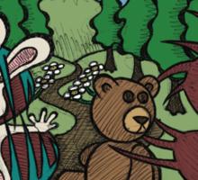 Teddy Bear And Bunny - The Venus Flytrap Sticker
