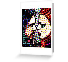 Jon Snow and Ygritte Greeting Card