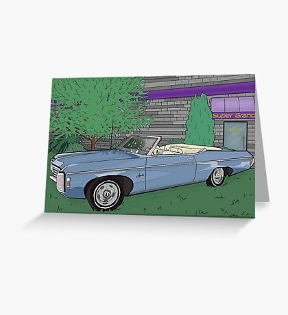 1969 Chevrolet Impala : Fast Cars & Cool Duco Greeting Card