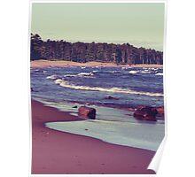 Lake Superior Beach Waves Poster