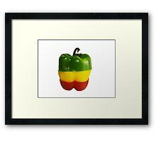 Tricolor Pepper Framed Print