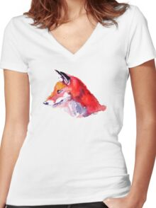 """""""Foxy"""" Tee Women's Fitted V-Neck T-Shirt"""
