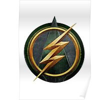 Mesh up - Arrow and Flash logo Poster