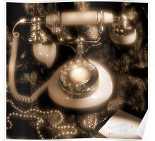 Princess Rotary Dial Phone Poster
