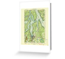 USGS Topo Map Washington State WA Olympia 242940 1937 62500 Greeting Card
