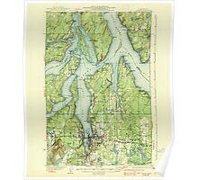 USGS Topo Map Washington State WA Olympia 242940 1937 62500 Poster