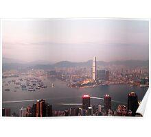 Hong Kong harbour view Poster
