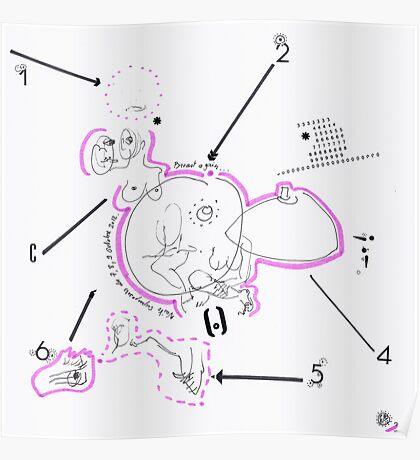 Night Drawings #76 - Breast again  Poster
