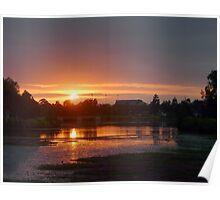 Sunrise Over Lake Eden Poster