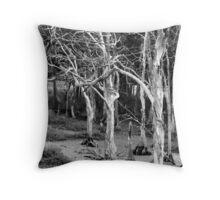 Wetland leafless trees Throw Pillow