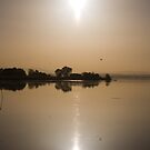 Tranquil evening sundown, Lago Trasimeno, Umbria by Andrew Jones