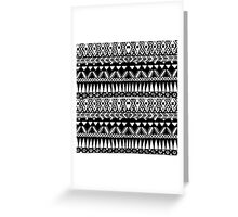 Black and White Hand Drawn Modern Tribal Aztec Greeting Card